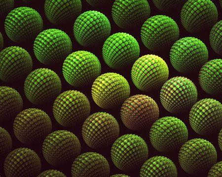 either: A fractal full of either pollen grains or weird eyeballs. Stock Photo