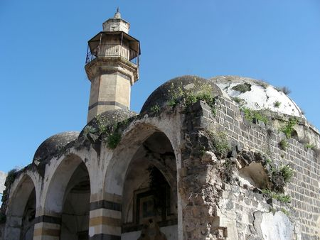 A wonderful old historic mosque in Tiberias, Israel.