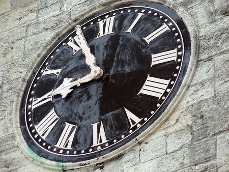 An old clock tower in the historic Dockyards, Bermuda. Stock Photo - 4589814