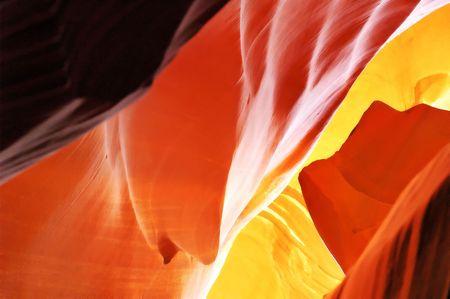 Wunderbare Color, die scheint zu glühen von den Wänden des Antelope Canyon, Seite, Arizona. Standard-Bild - 5818100