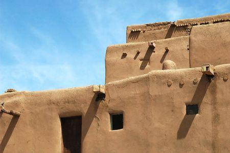 The historic pueblo at Taos, New Mexico.