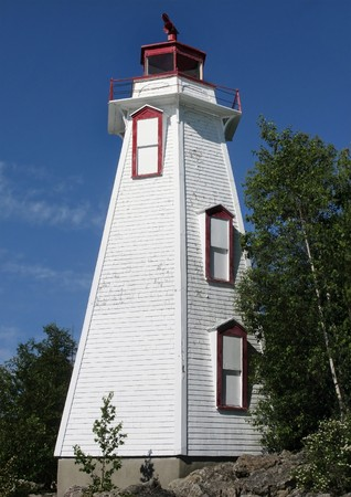 An historic lighthouse on the shores of Georgian Bay, Ontario                                Stock Photo - 7452190