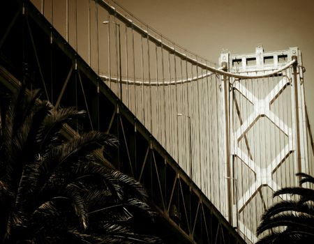 A view of San Francisco's Bay Bridge, from below Stock Photo - 8240327