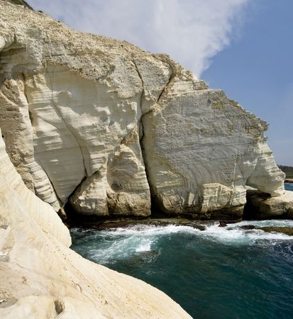 The sea caves of Rosh HaNikra, northern Israel. Stock Photo - 8240321