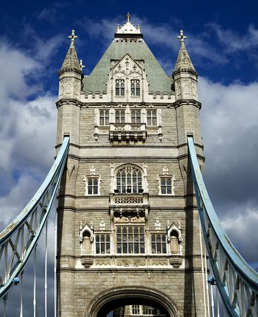 The historic Tower Bridge on the Thames, London, England.  Stock Photo - 8240328