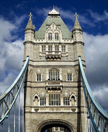The historic Tower Bridge on the Thames, London, England. Stock Photo - 8240328