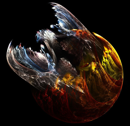 A brand new and very fierce dragon emerging from its egg