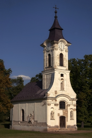 A beautiful old private chapel on an estate in Lovasbereny, Hungary