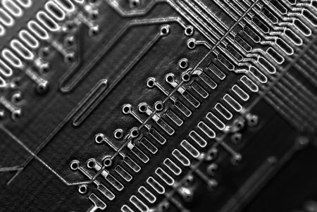 A closeup look at a memory board  Stock Photo