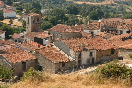 countrified: View of Spanish village Colmenar de Montemahor  from the hill