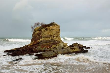santander: storm off the coast of Santander, Spain Stock Photo