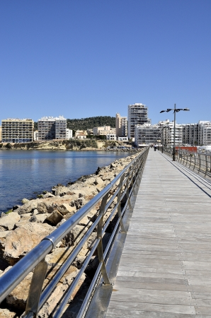 Port of San Antonio in Ibiza, Spain