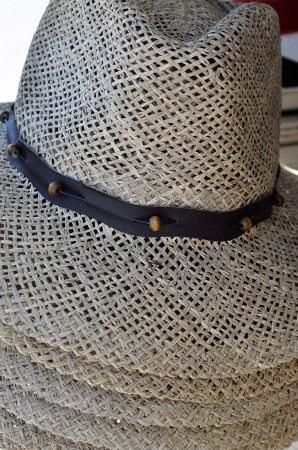 The new fashion straw hats for summer Stock Photo - 17231786