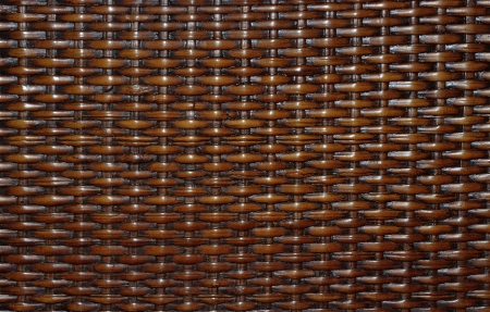 Texture made of brown wicker, to decorate furniture