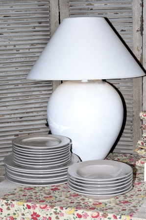 Gift items for the house, lamp, dishes