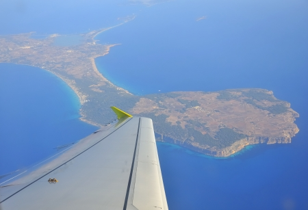 Aerial view of the island of Formentera