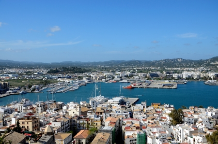 Port on the island of Ibiza, Spain Stock Photo