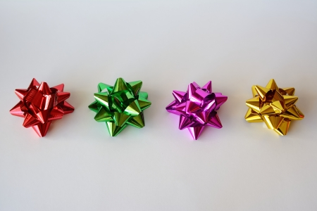 Christmas ornaments with colored and white background