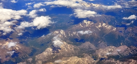 Travel to Europe, passing over the Swiss Alps Stock Photo