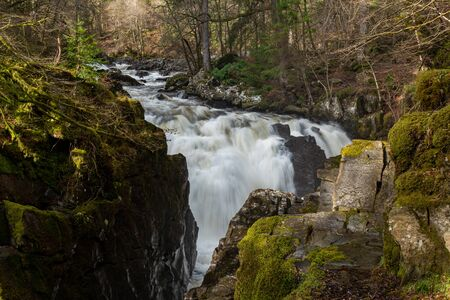 Black Linn falls scottish highlands long exposure