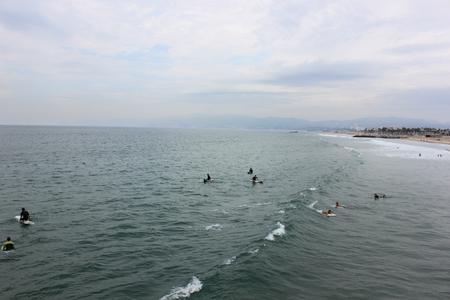Swimmers in Venice Beach