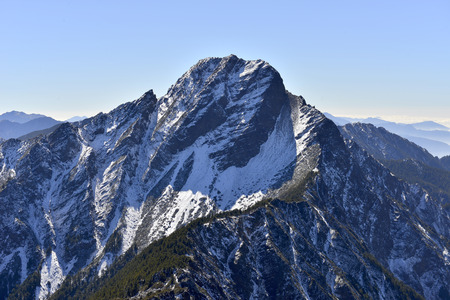 Yushan national park Mt. jady main peak Stock Photo