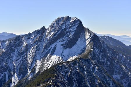 mt: Yushan national park Mt. jady main peak Stock Photo