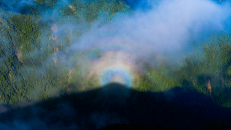 brocken phenomenon Stock Photo
