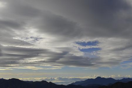 lenticular: Lenticular cloud in yushan national park