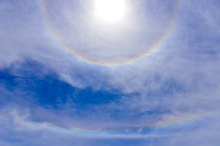 atmospheric phenomena: Day halo in yushan national park