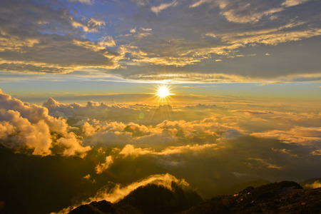 Sunset in yushan national park