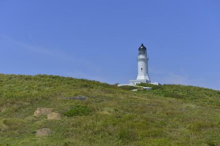 Pengjia Island lighthouse in north Taiwan