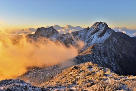 후지산 유산 국립 공원의 비취 주봉 스톡 콘텐츠