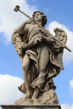 stone angel statue photo