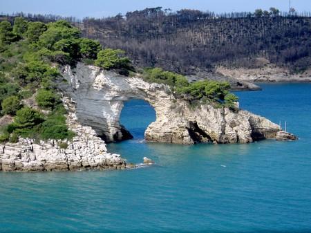 natural stone gate  in the coastline