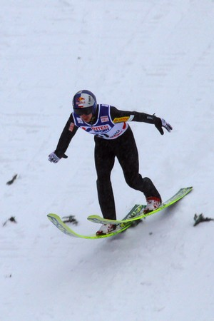 bmi: ENGELBERG - DECEMBER 19: Ski jumper Adam MALYSZ lands safely at FIS World Cup December 19, 2009 in Engelberg SUI. He ended 23th.