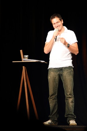 ZURICH - APRIL 30: Stand up comedian performs in Zurich with his programm Nuhr die Ruhe April 30, 2009 in Zurich SUI.  Stock Photo - 7131589