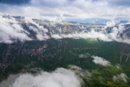 hill of tara: High flanks of green Tara Canyon.  Stock Photo