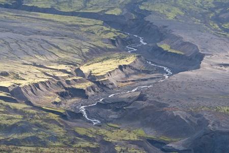 helens: Bogland stream trench on the slopes of mount St. Helens
