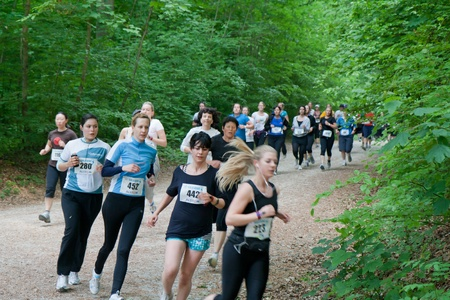 ZURICH - May 07: 11.060 participants of 790 teams  take  part in Academic relay race Sola run held in Zurich area for the 38th time. May 07, 2010 in Zurich, Switzerland. Stock Photo - 9489018