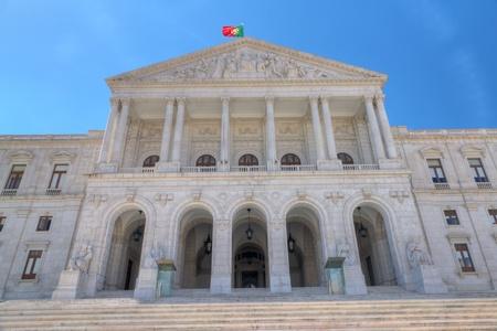 lisboa: Pillar clad building: Sao Bento Palace, home of the Portuguese Parliament, Portugal