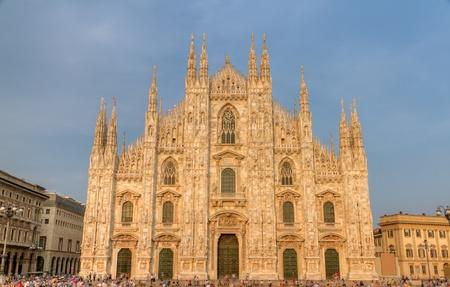 famosa cattedrale alias duomo di Milano, Italia