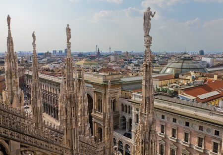 Aerial view from cathedral of Milan and it Stock Photo - 12049970