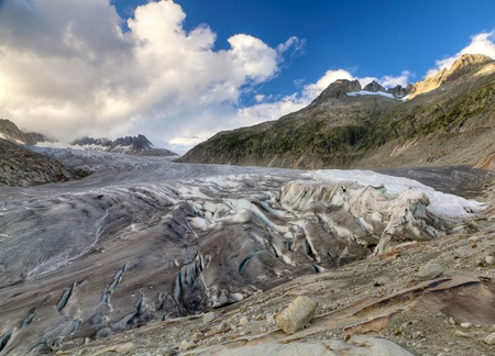 rhone: glacier tongue of Rhone glacier, Switzerland