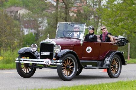 mutschellen: MUTSCHELLEN, SWITZERLAND-APRIL 29: Vintage pre war race car Ford T Tourer from  1926 at Grand Prix in Mutschellen, SUI on April 29, 2012.  Invited were vintage sports cars and motorbikes. Editorial