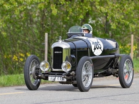 mutschellen: MUTSCHELLEN, SWITZERLAND-APRIL 29: Vintage pre war race car Amilcar CG SS from  1926 at Grand Prix in Mutschellen, SUI on April 29, 2012.  Invited were vintage sports cars and motorbikes.