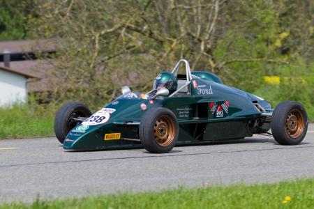 mutschellen: MUTSCHELLEN, SWITZERLAND-APRIL 29: Vintage race car Van Diemen Formel Ford from 1984 at Grand Prix in Mutschellen, SUI on April 29, 2012.  Invited were vintage sports cars and motorbikes.