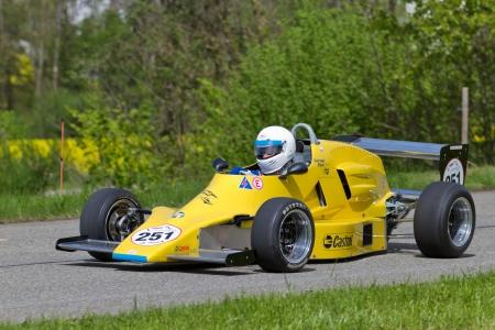 mutschellen: MUTSCHELLEN, SWITZERLAND-APRIL 29: Vintage race car Schiesser MK5 FF2000  from 1978 at Grand Prix in Mutschellen, SUI on April 29, 2012.  Invited were vintage sports cars and motorbikes.