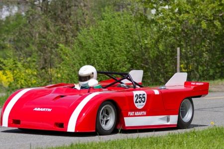 mutschellen: MUTSCHELLEN, SWITZERLAND-APRIL 29: Vintage race car Fiat Abarth V8 from 1971 at Grand Prix in Mutschellen, SUI on April 29, 2012.  Invited were vintage sports cars and motorbikes.