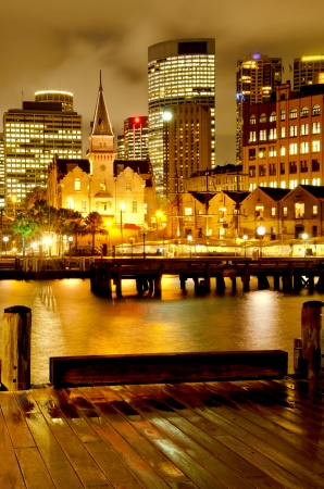 Sydney  The Rocks  and Downtown  Stock Photo